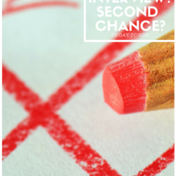 Second Chance After a Bad Interview