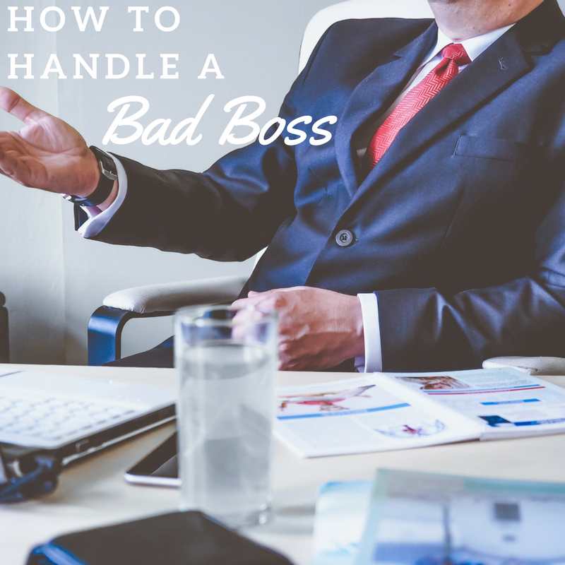 dealing with a bad boss